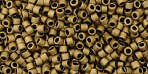 Toho Seed Beads #1 Treasures Matte Dark Copper 10 grams