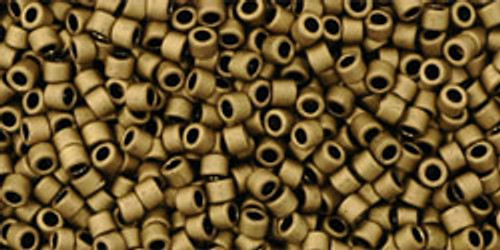 Toho Seed Beads #1 Treasures Matte Dark Copper 10 grams