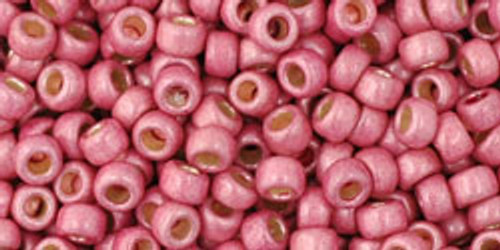 TOHO Seed Beads 8/0 Rounds #86 Permanent Finish Matte Galvanized Pink Lilac 250grams