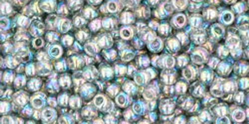 Toho Seed Bead 11/0 Round #195 Transparent Rainbow Black Diamond 250g