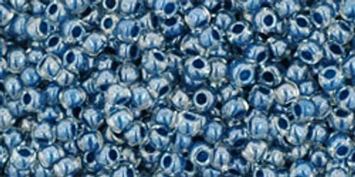 Toho Seed Beads 11/0 Crystal Capri Lined 8 gram