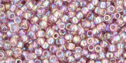 Toho Seed Beads 11/0 Rounds Transparent-Rainbow Light Amethyst