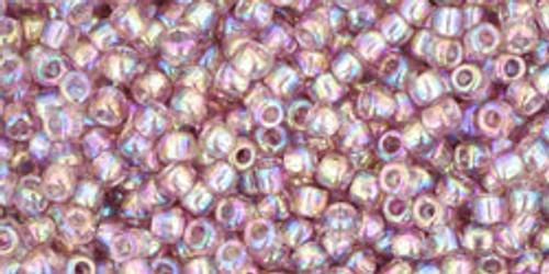 Toho Seed Beads 11/0 Rounds Transparent-Rainbow Light Amethyst