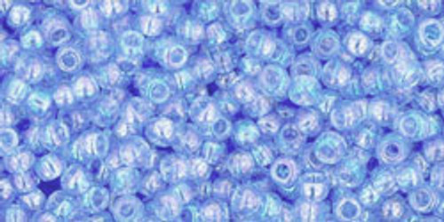 Toho Seed Beads 11/0 Rounds Transparent-Rainbow Light Sapphire