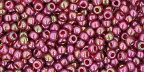 Toho Bulk Seed Beads 11/0 Rounds #47 Gold-Lustered Wild Berry 250 gram pack