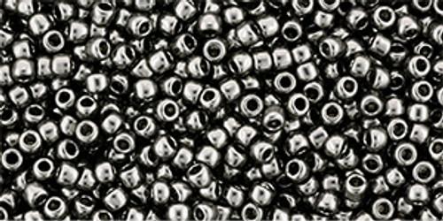 Toho Seed Beads 11/0 Round #437 Galvanized Gray 20 grams