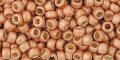 TOHO Seed Beads 8/0 Rounds #32 Permanent Finish Matte Galvanized Rose Gold 250 Grams