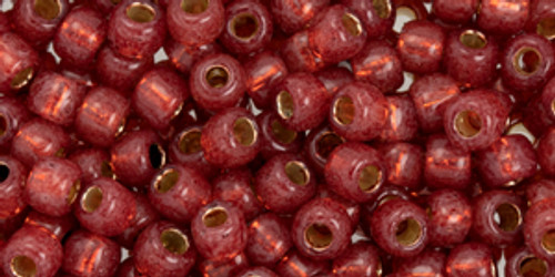 Toho Beads 6/0 #90 Perm Fin, (Permanent Finish), Silver Lined Milky Pomegranate 250g