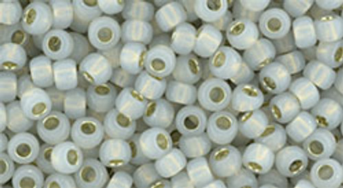 Toho Bulk Seed Beads 8/0 #232 Silver Lined Milky Cloud 250 gram