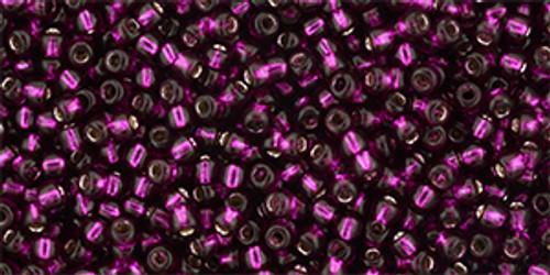 Toho Seed Beads 11/0 Silver Lined Dragon Fruit 8 gram