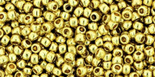 Toho Seed Beads 11/0 Perm Fin Galvanized Yellow Gold 8g