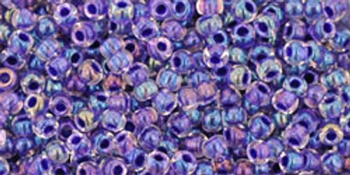 Toho Seed Beads 11/0 Rounds In-Rainbow Crystal/Tanzanite Lined