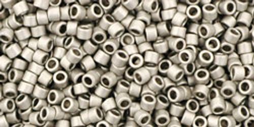 Toho Beads #1 Treasure #566 Matte Metallic Antique Silver 10g