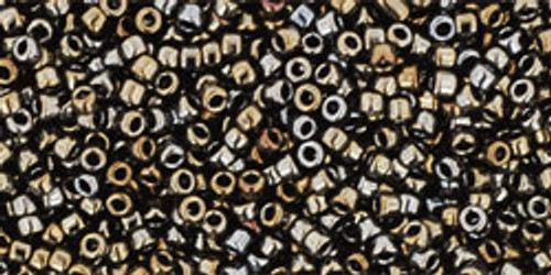 Toho Seed Beads 15/0 Round Metallic Iris Brown 50g