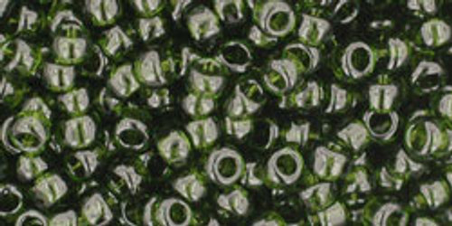 TOHO Seed Beads 8/0 Rounds #94 Transparent Olivine 250 Grams