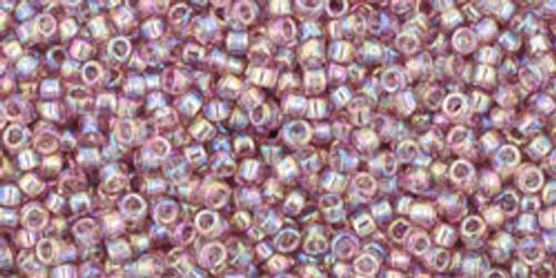 Toho Seed Beads 15/0 Transparent Rainbow Light Amethyst 50g