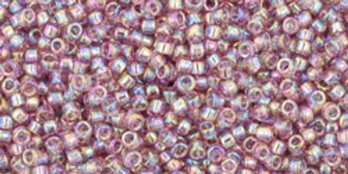 Toho Seed Beads 15/0 Transparent Rainbow Light Amethyst 100g