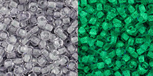 Toho Beads 11/0 #450 Glow in the Dark Gray Bright Green 50 gram
