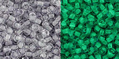 Toho Bulk Seed Beads 11/0 #450 Glow in the Dark Gray Bright Green 250g