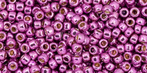 Toho Seed Beads 11/0 #451 Permanent Finish Galvanized Sugar Plum 50g TR-11-PF580