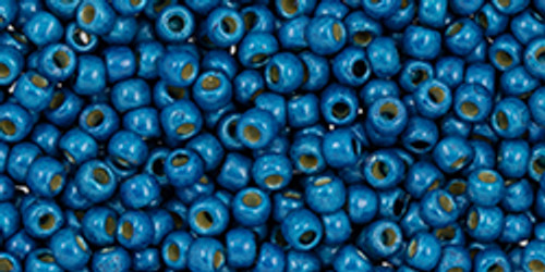 Toho Beads 11/0 #457 Perm Fin Matte Turkish Blue 20g