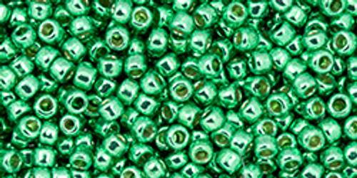 Toho Beads 11/0 #458 Perm Fin Galvanized Spring Green 20g
