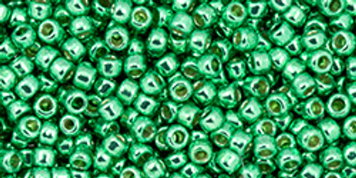 Toho Beads 11/0 #458 Perm Fin Galvanized Spring Green 50g