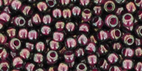 TOHO Seed Beads 8/0 Rounds #70 Grey/Magenta Lined 250 Grams