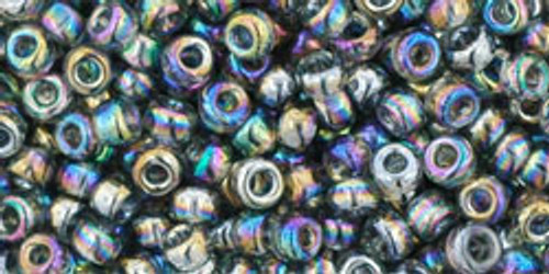 Toho Seed Beads 8/0 Transparent Rainbow Gray 8 gram