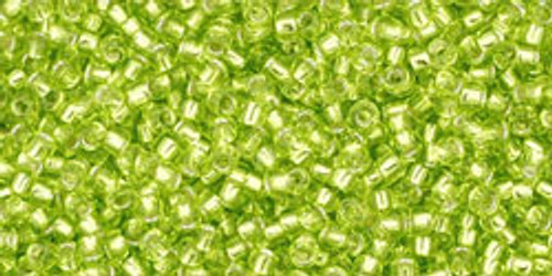 Toho Seed Beads 15/0 Silver Lined Lime Green 8-9 gram