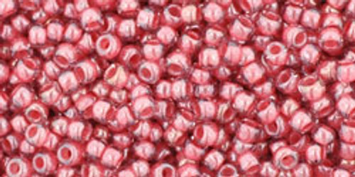Toho Seed Bead 11/0 Round Transparent-Lustered Rose/Mauve Lined