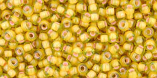 Toho Seed Beads 11/0 Rounds Inside-Color Jonquil/Apricot Lined