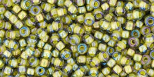 Toho Bead 11/0 Round #164 In-Black Diamond/Opaque Yellow Lined 250gm