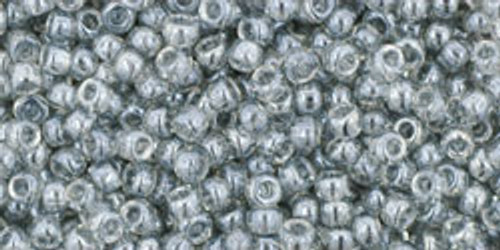 Toho Seed Beads 11/0 Round # 323 Transparent Lustered Blk Diamond 250g