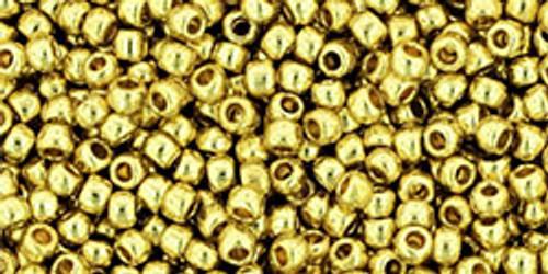 Toho Beads 11/0 #462 Perm Fin Galvanized Yellow Gold 50g
