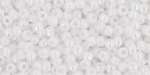 Toho Seed Beads 11/0 Rounds Opaque-Rainbow White
