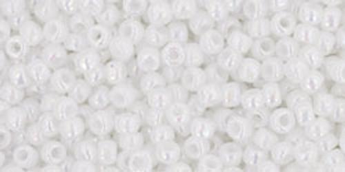 Toho Seed Beads 11/0 Rounds Opaque-Rainbow White