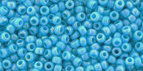 Toho Seed Beads 11/0 Rounds Opaque-Rainbow Blue Turquoise