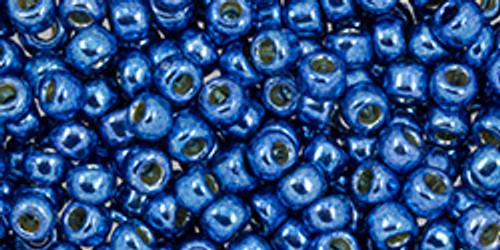 Toho Beads 8/0 #245 Perm Fin Galvanized Denim Blue 50g