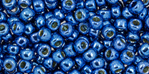 Toho Beads 8/0 #245 Perm Fin Galvanized Denim Blue 50g