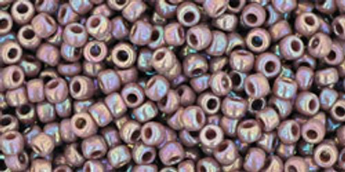 Toho Seed Beads 11/0 Rounds Opaque-Rainbow Lavender