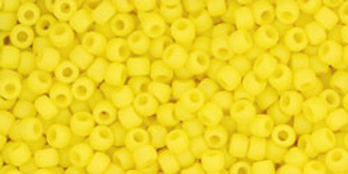 Toho Seed Beads 11/0 #468 Opaque Frosted Dandelion 50g