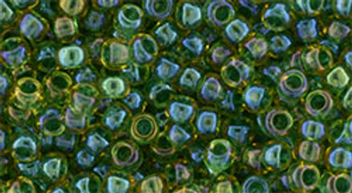 Toho 8/0 #251 Rainbow Light Jonquil Opaque Emerald 50g