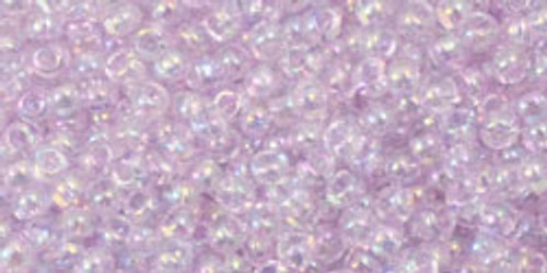 Toho Seed Beads 11/0 Rounds Transparent Dyed-Rainbow Lavender Mist