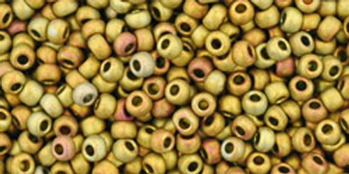 Toho Seed Beads 11/0 Rounds Higher-Metallic-Frosted Carnival