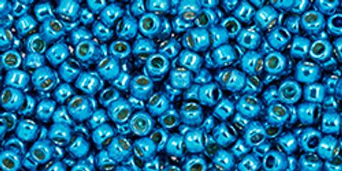Toho 11/0 #476 Perm Fin Galvanized Caribbean Blue 50g