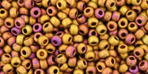 TOHO Beads 11/0 Rounds #45 Higher Metallic Frosted Copper Twilight 250g