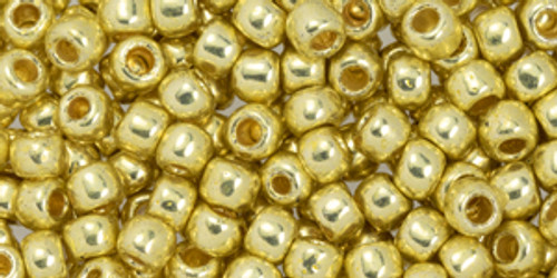 Toho Bulk Beads 6/0 #96 Perm Fin Galvanized Yellow Gold 250g