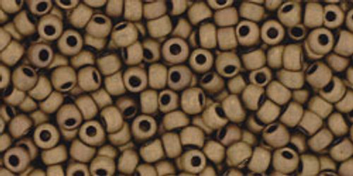 Toho Seed Beads 11/0 Rounds Matte-Color Dark Copper