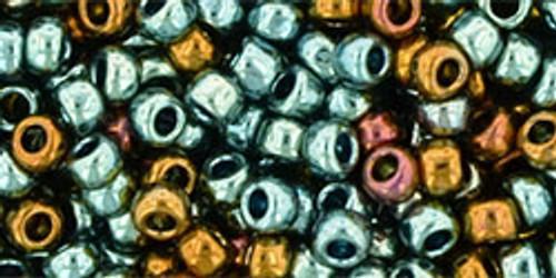 Toho Seed Beads 8/0 Galvanized Blue Gold 7+ gram tube